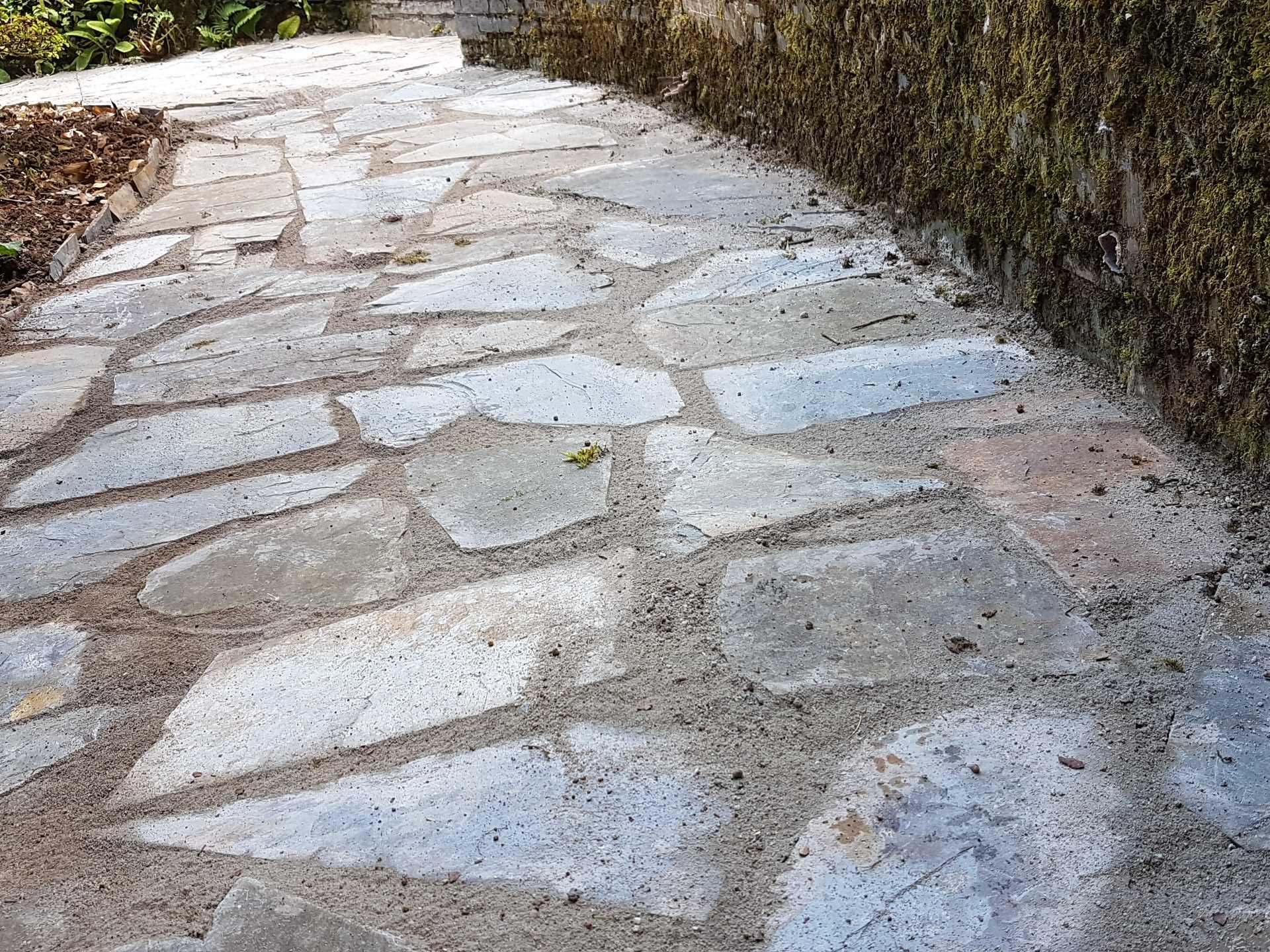 Slate path, natural stone path